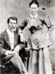 Alice Lavonia Miles, sister to Lewis B. Miles, and her husband, Benjamin Eli Salters