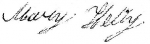Signature of Mary (Miles) Kelly, accepting the subpoena to appear before the Court of Equity, Spartanburg County regardi
