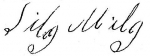 Signature of Silas Miles, accepting the subpoena to appear before the Court of Equity, Spartanburg County, regarding the