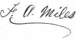 Signature of Dr. Francis A. Miles on the 'Statement of the Settlement of the Estate' of Landon Miles filed in the Spar