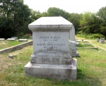 Tombstone of George W. Miles, Jr in Marion, Virginia.  Almost the 1st President of the University of Virginia