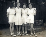 Left to right Martha Stuart Miles (dau of Fanning & Marguerite Miles), Mary Lee Miles, Lucy Wilder (dau of S. Franklin W