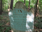 IN memory of Mrs. ANNE FARROW, second wife of Thomas Farrow, who died Aug. 24th 1809 aged 52 years.