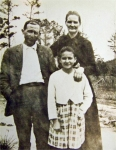 Jacob J Stough, his wife, Alice Rebecca Miles (1867-1930)and their youngest child Grace Stough. Alice is the daughter of