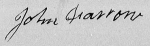 Signature of John Farrow on his Revolutionary War pension application 11 July 1834.