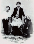 John and Lelah Craws children, Behind chair, Andrew, left, Clarence, seated, George who died just after photo was made,