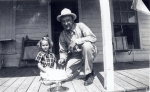 Sherman Miles and his granddaughter, Margaret Montgomery.
